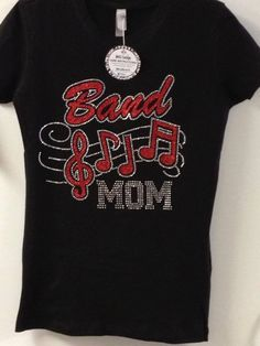 This listing is for a Band Mom tee. This design is a glitterflake and rhinestone combination. The glitterflake is super…