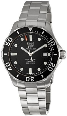Tag Heuer Men's Aquaracer Calibre 5 Stainless Steel Black Dial Watch #WAN2110.BA0822 from TAG Heuer @ TAG-Heuer-Watches .com