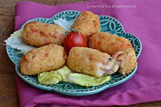 Crocchette di riso con scamorza e prosciutto una ricetta da servire come secondo,sfiziosa e saporita!Crocchette filanti e gustose