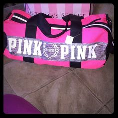 New with Tags Victoria's Secret PINK Gym Bag New with tags Pink/Gray/Black  Victoria's Secret PINK gym bag. With carrying straps or 1 cross body strap PINK Victoria's Secret Bags Travel Bags