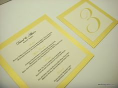 Wedding Menu Cards in Custom Color Elegant Layered Border Design with your Personalized Menu Items. $2.50, via Etsy.