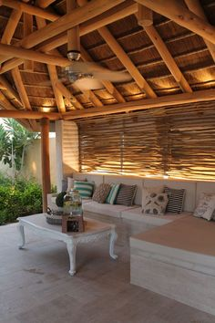 The natural colour of clear treated eucalyptus timber pairs beautifully with a thatched roof, softly adding a subtle touch of rustic to your garden. Pool Gazebo, Screened Gazebo, Grill Gazebo, Gazebo Canopy, Covered Pergola, Outdoor Cabana, Outdoor Gazebos, Outside Living, Outdoor Living