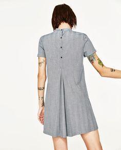 Image 4 of V-NECK DRESS WITH CHOKER from Zara