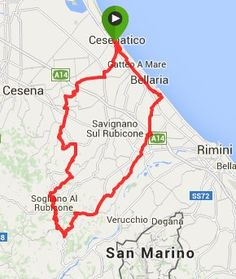 """Cycling route out of Cesenatico, Italy - """"Cycling this part of Italy has been way too fun"""" by @CycleTraveller"""