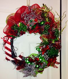 Christmas wreath, diy wreath, grapevine wreath