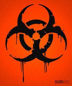 Grunge Biohazard Sign Wall Decal (MEDIUM)
