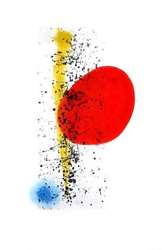 Joan Miro - Soleil et vent (Sun and wind). Original etching, signed by Miro, 1962