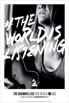 The World is Listening - The Grammys by Kirk Williams and Eric Haugen, via Behance