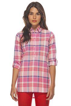 Plaided Cotton Shirt