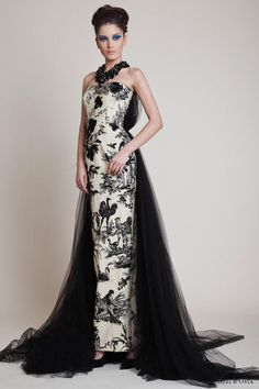 black and white color Azzi & Osta Spring Couture