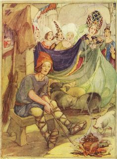 """Anne Anderson illustration, from """"The Big Christmas Wonder Book"""" *~❤•❦•:*´`*:•❦•❤~*"""