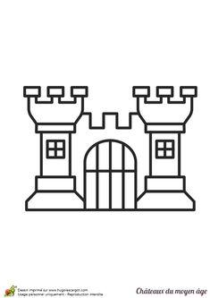 Coloriage Grand Chateau.57 Images Formidables De Coloriages De Chateaux Et Chevaliers