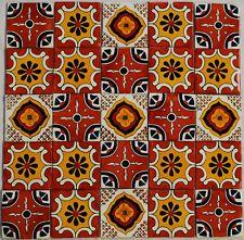 25 Mexican Talavera Tiles Ceramic Tiles Hand Made # 501