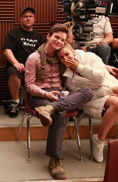 Chris Colfer & Dianna Agron from Glee
