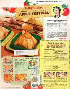 Betty Crocker PRESENTS THIS NATION-WIDE APPLE FESTIVAL by spuzzlightyeartoo, via Flickr  *large, readable version when you click on photo*