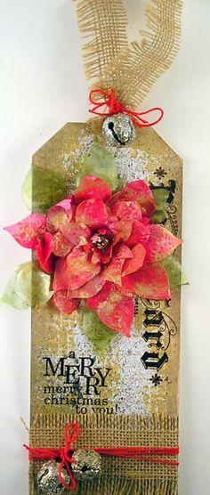 Poinsettia Tag