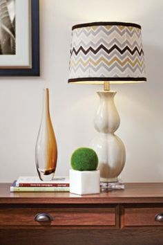 Cover a lampshade with fabric