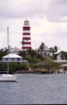 Hope Town Lighthouse-Hope Town is one of the districts of the Bahamas, on the Abaco islands as well as a small village on Elbow Cay, located in Abaco
