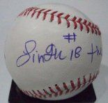 """Baseball autographed by Rinku Singh Coa, subject of """"Million Dollar Arm"""" book and motion picture. http://www.outriderbooks.com/MillionDollarArm.html"""