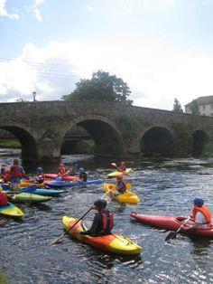 Kayaking at Durrow Laois Ireland