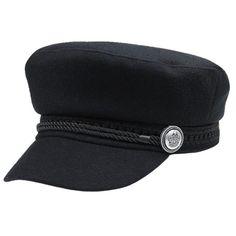 PopNobility Casual Hats For Women Men Octagonal Cap Wool Button Baseball Caps Sun Visor Hat - Brand Name: Liva Sun Visor Hat, Visor Cap, Black Baseball Cap, Baseball Caps, Flat Hats, Fisherman's Hat, Winter Hats For Men, Retro Stil, Beanies