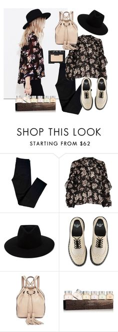 """""""Dark floral"""" by maricarlotto ❤ liked on Polyvore featuring J Brand, River Island, rag & bone, Dr. Martens, Rebecca Minkoff, Laura Mercier and NARS Cosmetics"""