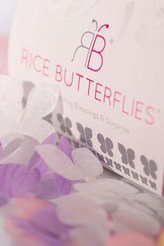 Rice Butterflies - The Wedding Confetti