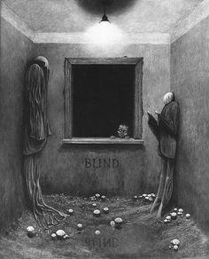 Into the Darkness Seduction...Cuadro en blanco y negro de Zdzisław