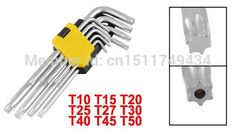 84.18$  Know more - http://aiahq.worlditems.win/all/product.php?id=32612551061 - 9 Pieces L Shaft T10 T15 T20 T25 T27 T30 T40 T45 T50 Security Torx Screwdriver