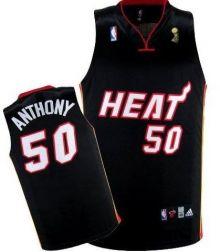 Miami Heat 50 Joel Anthony Black 2012 Fianls Champions NBA Jerseys Wholesale Cheap