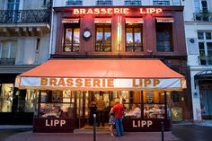 In Search of the Quintessential Paris Brasserie. Brasserie Lipp — a favorite of Ernest Hemingway — stills serves cold beer and French fare to locals and tourists alike.