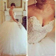 Wholesale Dress Wedding - Buy Sexy Vestido De Noiva White Crystals Beads Embroidery Tulle Ball Gown Wedding Dresses Fall Winter Strapless Sweetheart Bridal Gowns BO3617, $289.99 | DHgate