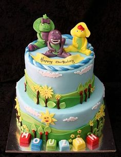 Simple Barney Birthday Cakes