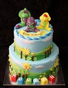 Simple Barney Birthday Cakes