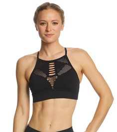 7f1ac16ce816c NUX Rise Up Mesh Seamless Yoga Sports Bra at YogaOutlet.com - Free Shipping