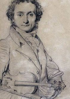 Inspirational Ingres - Niccolo Paganini by Jean-Auguste Dominique Ingres - c, 1819