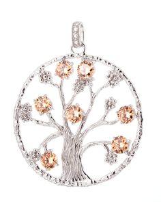 #Lebensbaum #Anhänger 925 Sterling #Silber mit #Zirkonia by #JulieJulsen - get it now at #VALMANO! #trend #female #male #fashion #accessoires #watch #uhr #jewellery #jewelry #schmuck