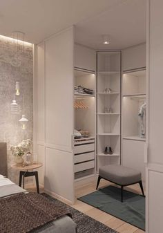 10 beautiful open wardrobe concepts for advanced students # openclosetsystems # ., 10 beautiful open cloakroom concepts for advanced students # openclosetsystems # o .- 10 beautiful open cloakroom concepts for advanced residents # . Bedroom Closet Design, Home Room Design, Home Decor Bedroom, Modern Bedroom, Home Interior Design, Contemporary Bedroom, Bedroom Ideas, Wardrobe Design, Small Closet Design