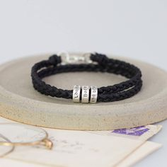 personalised message bracelet by notes | notonthehighstreet.com