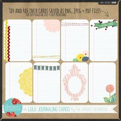 The Lulu Journaling Cards