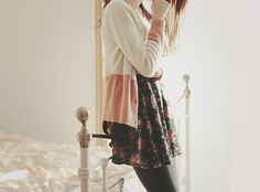wear skirt with cardis and leggings for winter