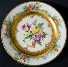 Dresden Porcelain (Saxony,Germany) — Dinner Plate   (500×495)