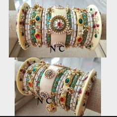 Bridal Bangles, Bridal Jewelry, Bridal Chura, Bangle Set, Indian Jewelry, Bracelets, Earrings, Jewellery, Wedding