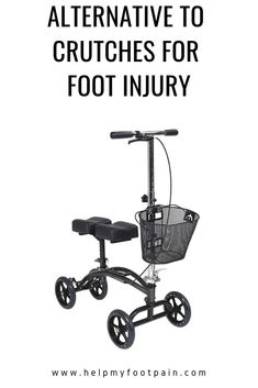 In need of an alternative to traditional crutches for a foot injury? Then check out these knee scooters, knee walkers, and innovative knee crutches. Walker Medical, Plantar Fasciitis Taping, Knee Scooter, Leg Injury, Ankle Pain, Sprained Ankle, Crutches, Foot Pain, Fun To Be One