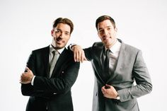 "Drew and Jonathan ""suit up"" during the @Carly Koerner Magazine Holiday Cover Shoot!"