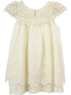 With a beautiful vintage inspired look they are perfect for any little girl and occasion! You will fall in love with this super chic feminine dress made in gorgeous Ivory/Cream lace, cap sleeves and a