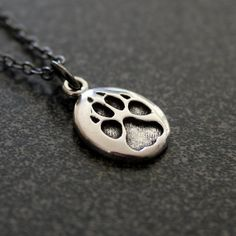 Tiny Wolf Track Necklace in Sterling Silver Wolf Paw Track Pendant Necklace Charm 167 Silver Pendant Necklace, Sterling Silver Necklaces, Jewelry Necklaces, Bracelets, Necklace Charm, Jewellery Box, Silver Jewellery, Gold Pendant, Silver Ring