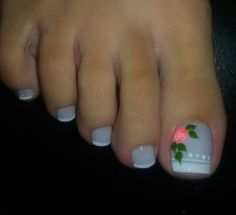 Uñas deco Cute Toe Nails, Toe Nail Art, Love Nails, Pretty Nails, How To Do Nails, Pedicure Designs, Toe Nail Designs, Nail Polish Designs, Leopard Nails