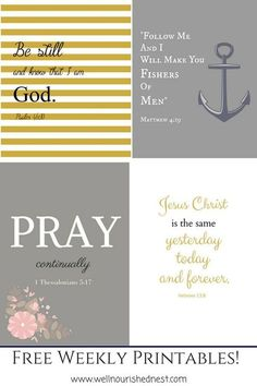 Bible verses - Free weekly printables on The Well Nourished Nest!