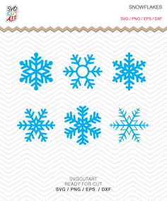 Snowflakes svg Christmas Winter DXF SVG PNG eps Holidays Cut File for Cricut Design, Silhouette studio, Sure A Lot, Makes the Cut by SvgCutArt on Etsy